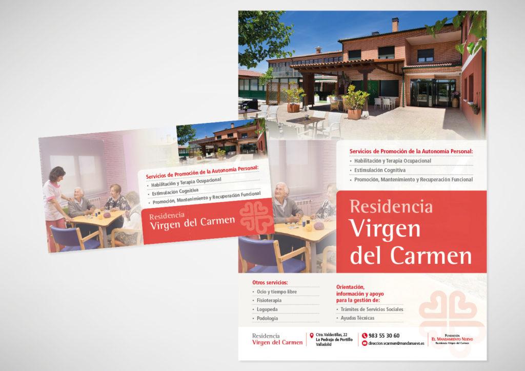 Residencia Virgen del Carmen - Cartel y flyer - Ivan Diez