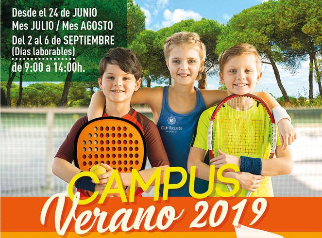 Club Raqueta - Campus Tenis Padel Verano 2019 - Cartel - Ivan Diez