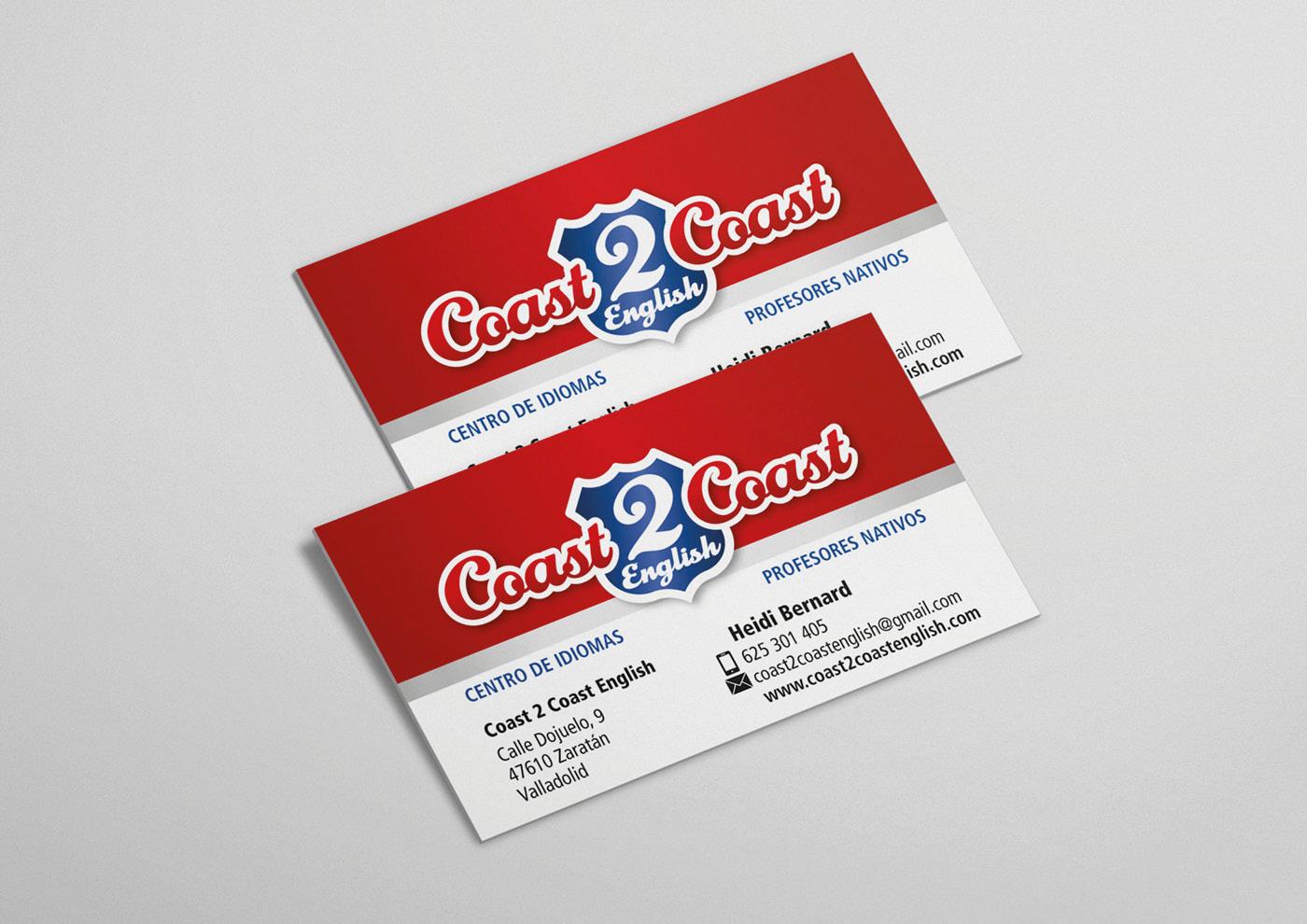 Coast2Coast English Diseño de tarjetas-Ivan Diez