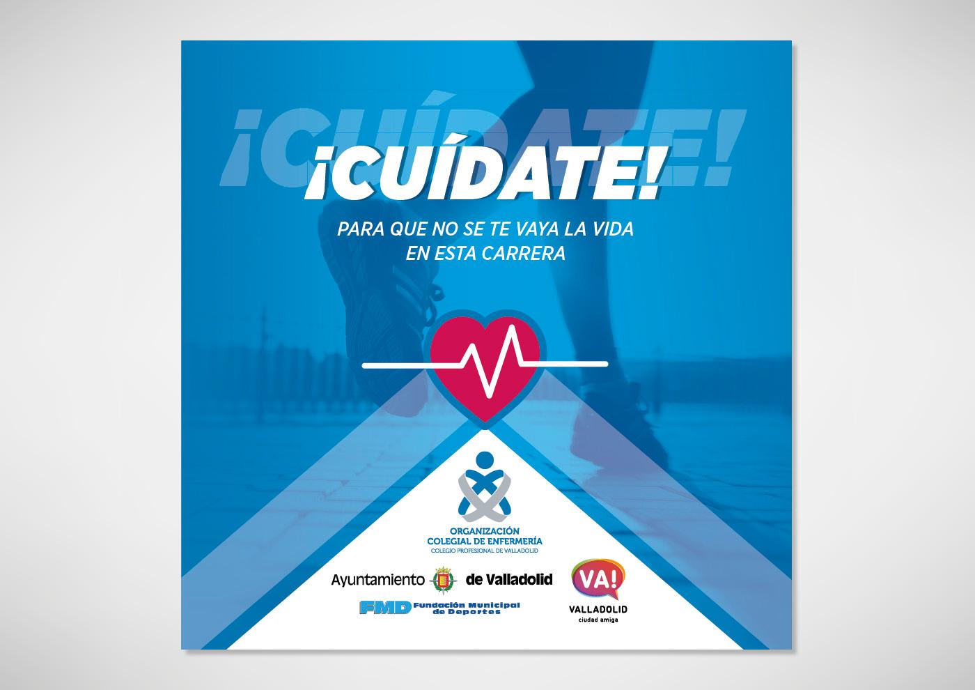 Colegio de Enfermería de Valladolid - Folleto desplegable consejos para Runners - Ivan Diez