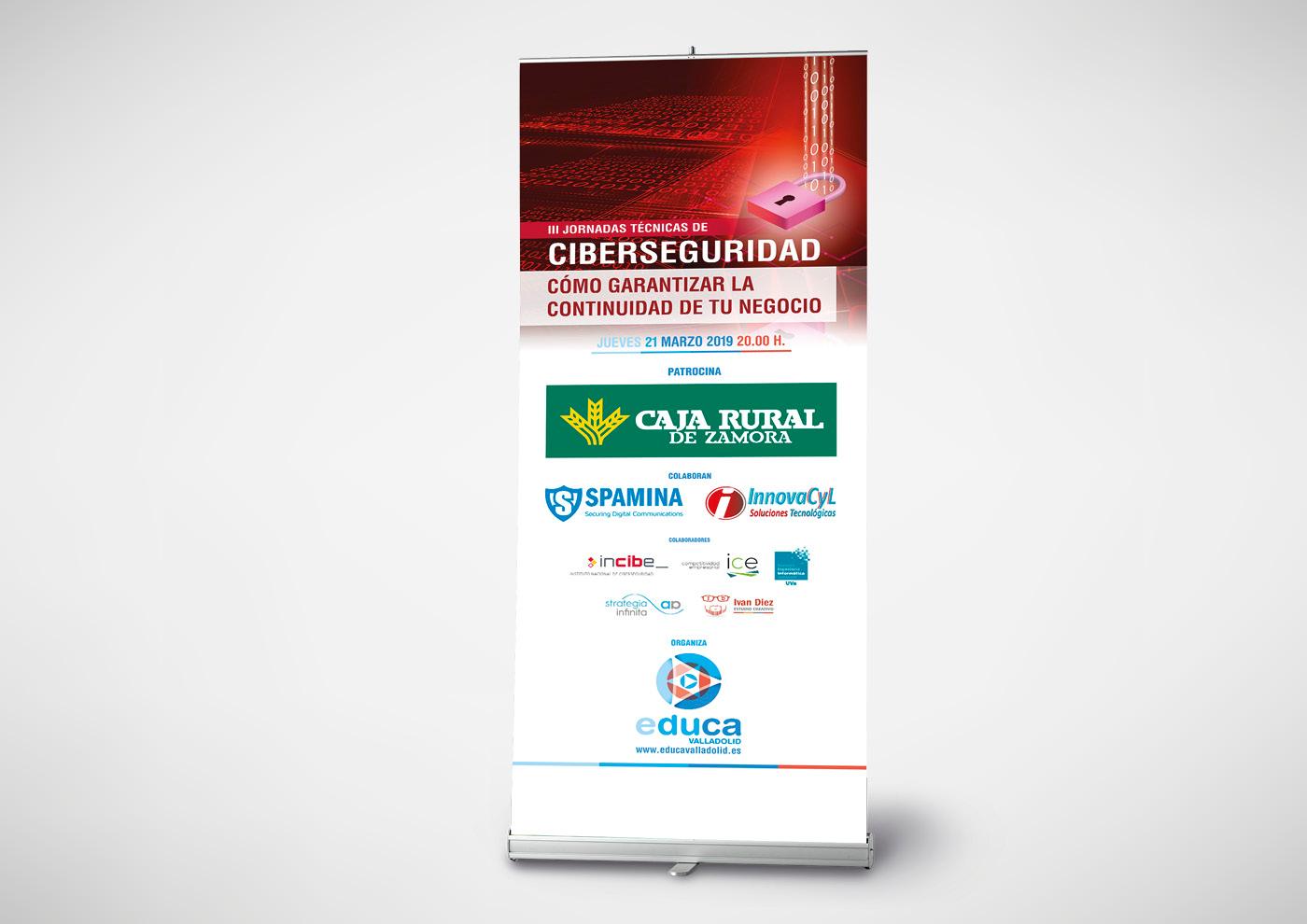 Educa - Jornada Profesional Ciberseguridad - Expositor enrrollable - Ivan Diez