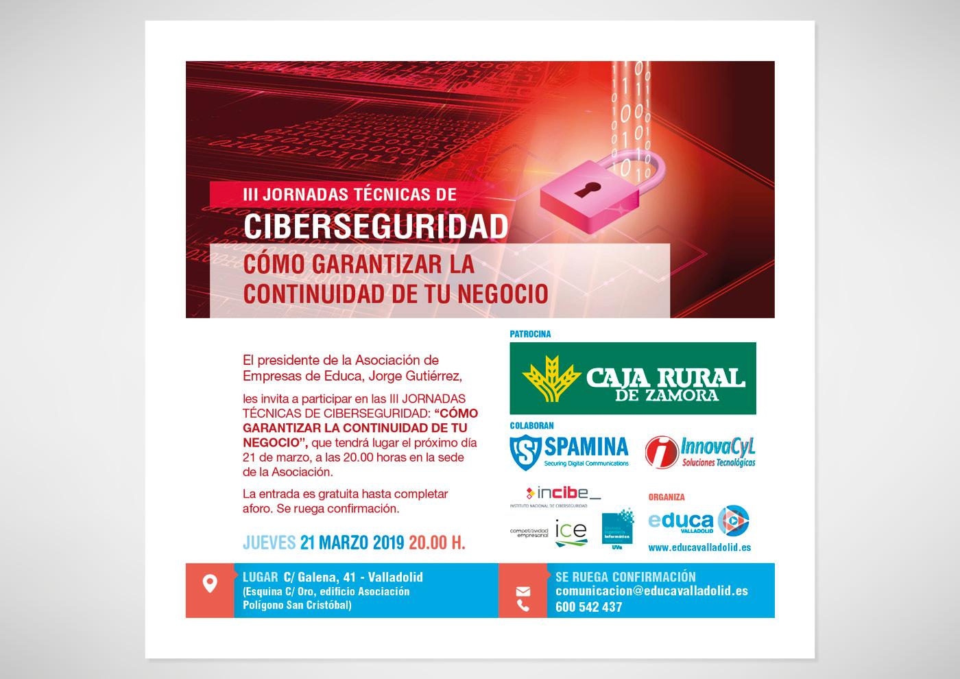 Educa - Jornada Profesional Ciberseguridad - Invitación mail - Ivan Diez