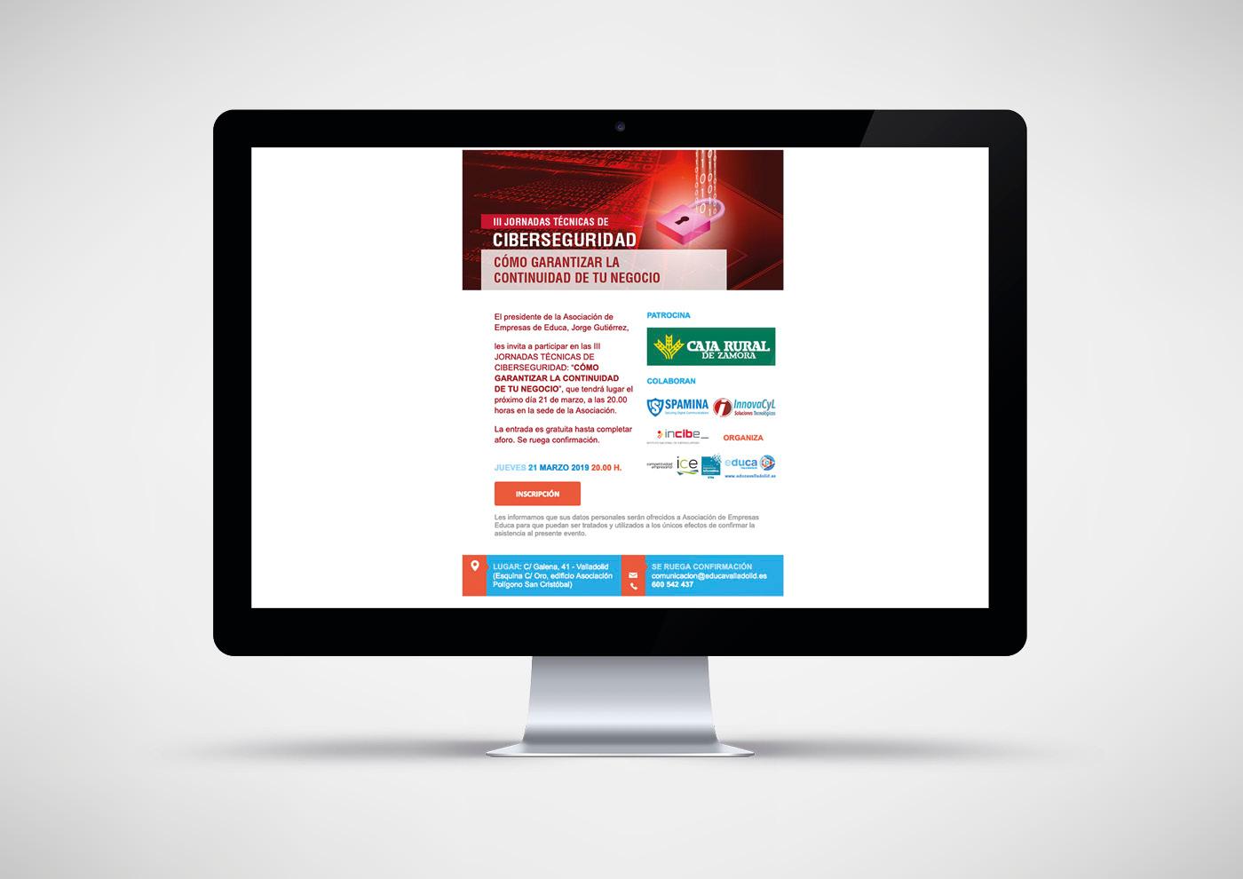 Educa - Jornada Profesional Ciberseguridad - Invitación web - Ivan Diez