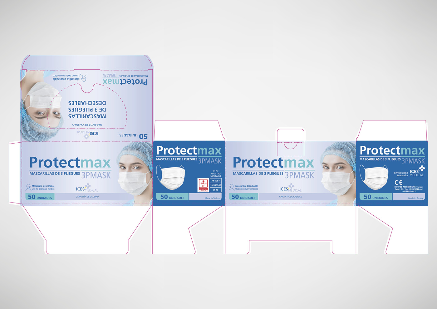 Ices Medical - Packaging mascarillas - Ivan Diez