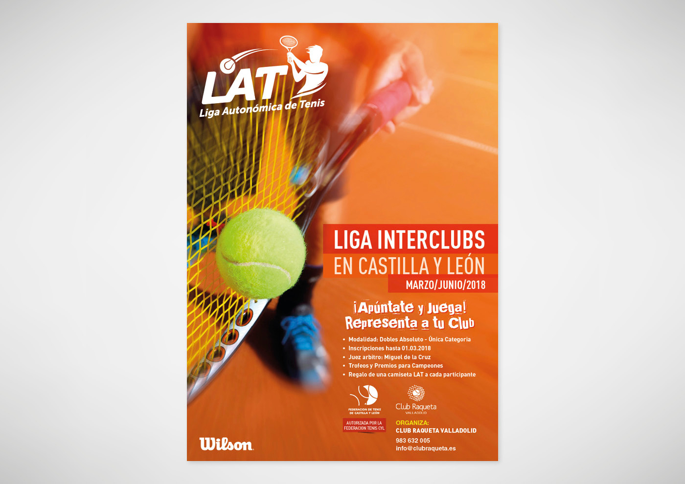 Liga Autonómica de Tenis - 2018 - Cartel - Ivan Diez