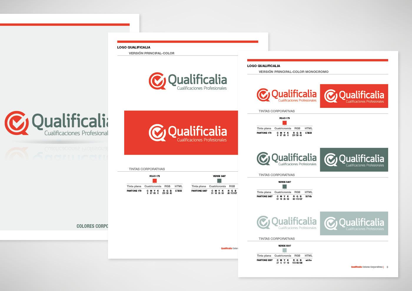 Qualificalia - Imagen corporativa - Manual corporativo - Ivan Diez