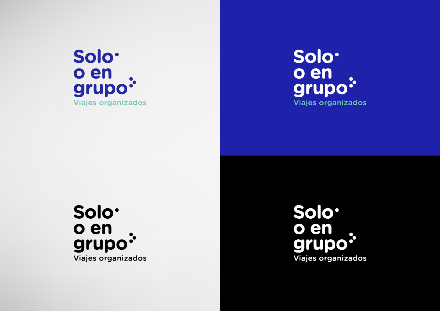 Solo o en grupo - Imagen corporativa - Logotipo - Ivan Diez