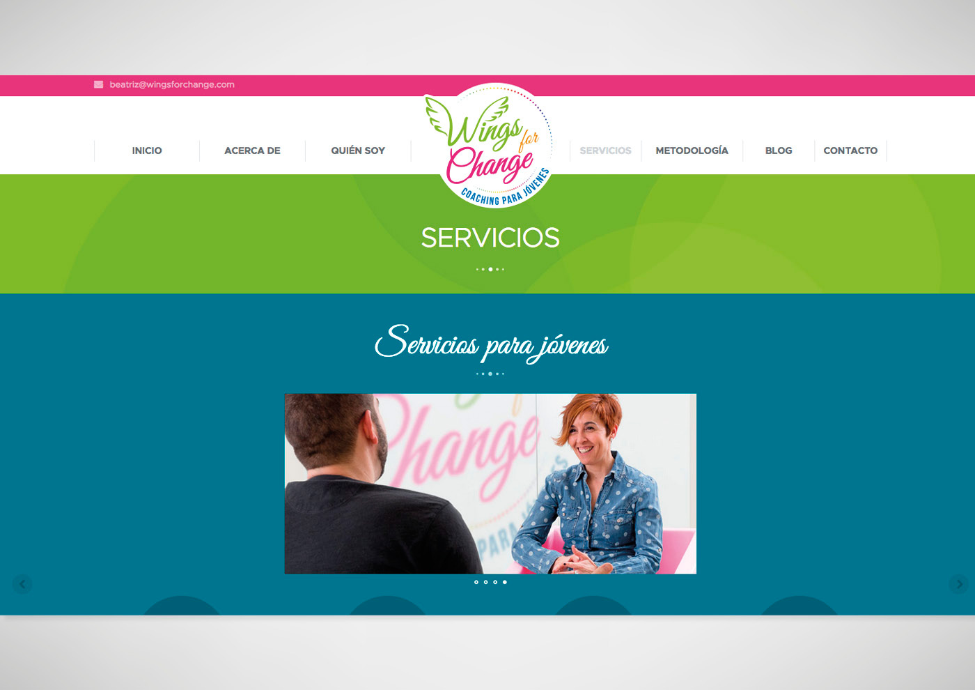 Wings for Change - Diseño de web - Ivan Diez